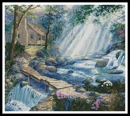 A Path well Chosen (Cushion) by Artecy printed cross stitch chart